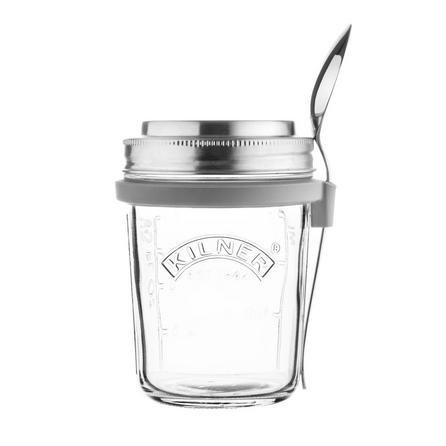 image-Kilner Breakfast Jar Set Clear and Grey