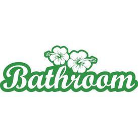 image-Bathroom, Flowers Wall Sticker East Urban Home Colour: Light green, Size: 40 cm H x 119 cm W