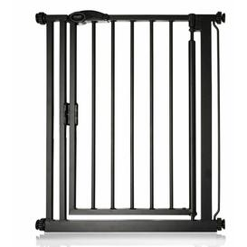 image-Arias Pressure Mounted Pet Gate Archie & Oscar Size: 89.4cm - 96.4cm, Finish: Black