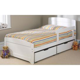 image-Friendship Mill Wooden Rainbow Kids Bed, Single Short, 2 Side Drawers, Blue, No Guard Rail