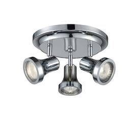 image-SP9043 Three Light Bathroom Ceiling Spotlight In Chrome With Adjustable Heads