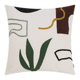 image-Ferm Living - Hand Woven Mirage Cushion - 50x50cm - Cacti