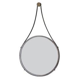image-Broadway 41cm Round Mirror Brown