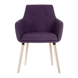 image-TEKNIK 4 Legged Fabric Reception Chair - Plum, Plum