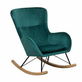 image-Yadira Rocking Chair Canora Grey Fabric: Green