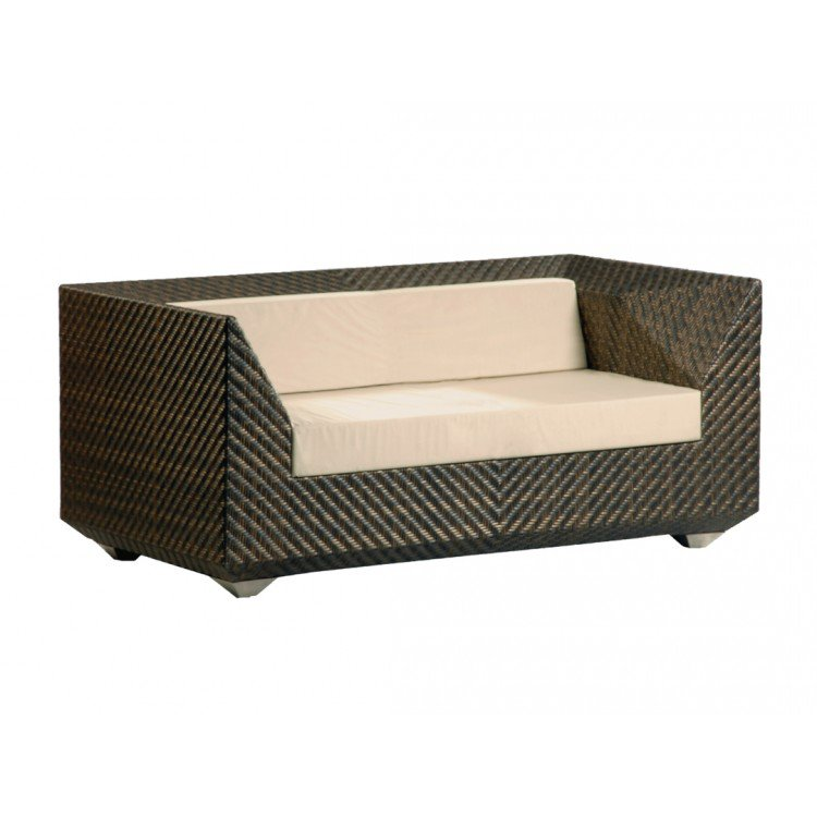 image-Alexander Rose Ocean Bronze Garden Maldives 2 Seater Sofa with Cushions