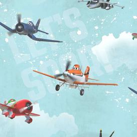 image-Kids at Home Planes 10m x 53cm Matte Wallpaper Roll East Urban Home