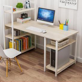 image-Nahabed Computer Desk Mercury Row Top Colour: White, Size: 109cm H x 120cm W x 60cm D, Frame Colour: White