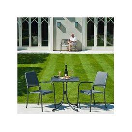 image-Alexander Rose Portofino Bistro 2 Seater Woven Armchair Square Set