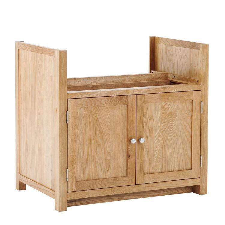image-Handmade Oak Kitchens Furniture 2 Door Belfast Sink Cabinet
