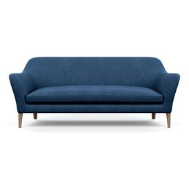 image-Heal's Wallis 4 Seater Sofa Capelo Linen-Cotton Inkspot Walnut Feet