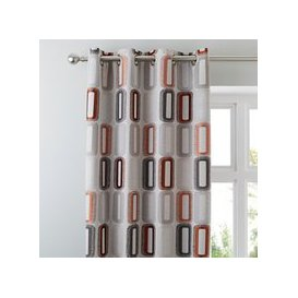 image-Elements Dahl Rust Eyelet Curtains Rust