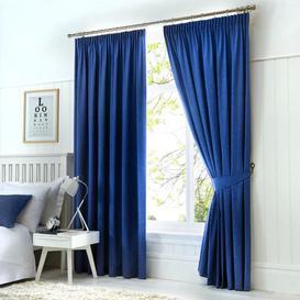 image-Coleraine Pencil Pleat Blackout Thermal Curtains Marlow Home Co. Colour: Denim, Panel Size: Width 229cm x Drop 229 cm