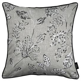 image-Eden Charcoal Grey Printed Cushions, Cover Only / 60cm x 60cm