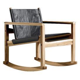 image-Peglev Rocking chair - Rocking chair by Objekto Black/Natural wood