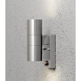 image-Modena 2-Light Outdoor Sconce with PIR Sensor Konstsmide Finish: Stainless Steel
