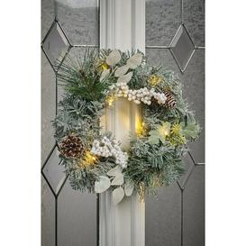 image-LED Frosted Wreath
