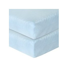 image-John Lewis & Partners Baby GOTS Organic Cotton Fitted Cotbed Sheet, Pack of 2
