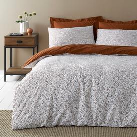 image-Dottie Butterscotch Duvet Cover and Pillowcase Set Brown