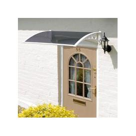 image-Tinted Door Garden Canopy White 1.2m
