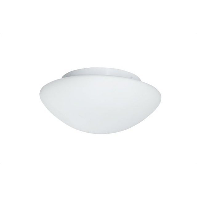 image-Bathroom 23cm White Ceiling Light with Opal Glass