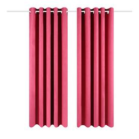 image-Eclipse Eyelet Blackout Thermal Curtains Wayfair BasicsΓäó Colour: Pink, Panel Size: 229 W x 183 D cm