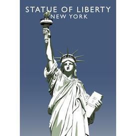 image-'Statue of Liberty' Graphic Art East Urban Home Format: No Frame, Size: 50 cm H x 40 cm W x 1 cm D