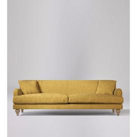 image-Swoon Chorley Three-Seater Sofa in Marigold House Weave With Short Light Feet