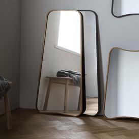 image-Gallery Direct Kurva Black Metal Leaner Mirror