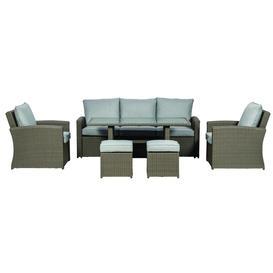 image-Royalcraft Garden Furniture Paris 7 Seater Deluxe Sofa Dining Set