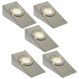 image-Pack of 5 Lago LED Wedge Cabinet Light in Satin Nickel