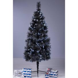 image-Black Bushy Glitter Christmas Tree