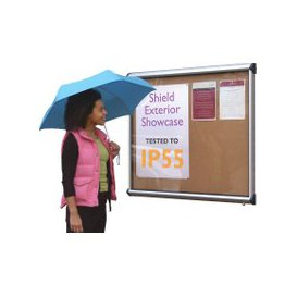 image-Shield Exterior Showcase Noticeboards, Green/Emerald, Free Standard Delivery