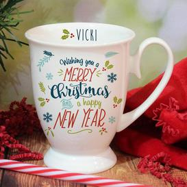 image-Personalised Wishing You A Merry Christmas Marquee Mug