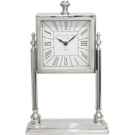 image-Table Clock ClassicLiving Coating: Nickel/White