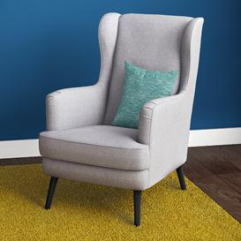 image-Carls Wingback Chair Mercury Row Upholstery: Light Beige