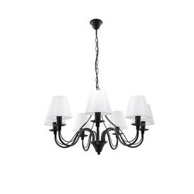 image-Elnora 7-Lights Shaded Chandelier ClassicLiving Fixture Finish: Black