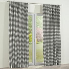 image-Pencil Pleat Semi Sheer Single Curtain Dekoria Panel Size: Width 130cm x Drop 260cm, Colour: Grey / Ecru