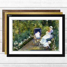 image-'Children in the Garden' by Mary Cassatt Framed Painting Print Big Box Art