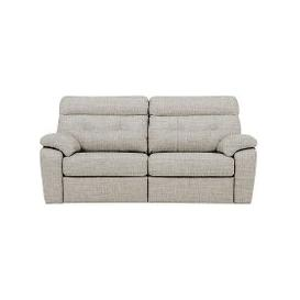 image-G Plan - Miller 3 Seater Fabric Power Recliner Sofa - Beige