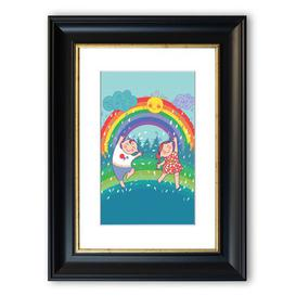image-'Rainbow Kids' Framed Graphic Art East Urban Home Size: 70 cm H x 50 cm W, Frame Options: Black