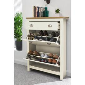 image-Lancaster 2 Drawer Shoe Cabinet