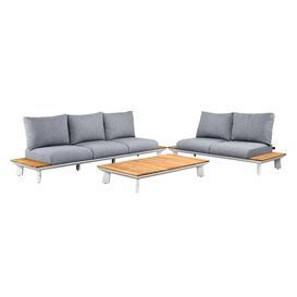 image-Denver Sofa Set (Configuration: 2 x 2-seater sofa, lounge table 90 x 90 cm, FSC teak)
