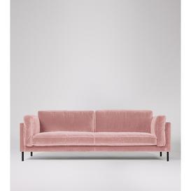 image-Swoon Munich Three-Seater Sofa in Blush Easy Velvet