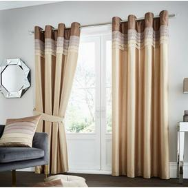 image-Geise Eyelet Room Darkening Curtains Brayden Studio Colour: Natural, Size per Panel: 229 W x 229 D cm