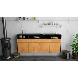 image-Itasca Sideboard Ebern Designs Colour (Body/Front): Anthracite/Oak