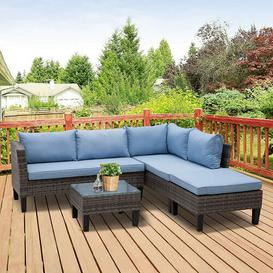 image-Jefferson Place 4 Seater Rattan Corner Sofa Set Sol 72 Outdoor