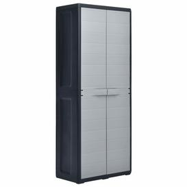 "image-""67"""" H x 26"""" W x 15"""" D Rudisill Storage Cabinet Ebern Designs Finish: Grey/Black"""