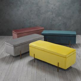 image-Colangelo Upholstered Storage Bench Fairmont Park Upholstery Colour: Grey