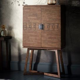 image-Kelton Retreat Wooden Bar Cabinet In Mango Wood With 2 Doors